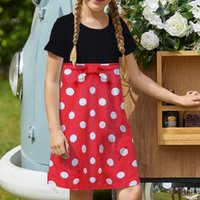 Comfortable girls' dresses, short-sleeved printed dresses, children's casual dresses, A-line skirt, knee-length, simple, elegant and colorful 5-15 years old