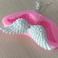 Baking Moulds 1pc Angel Wings Silicone Mould Princess Dress Cake Candy Chocolate Fondant Aroma Handmade Soap Candle Mold Decorating
