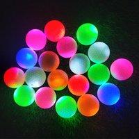 Golf Balls 6 шт. / Упаковка Долговечный Спорт Света Активированная Практикующая Светящаяся Тренировка Мигающая игра Светодиодная Цветная ночь