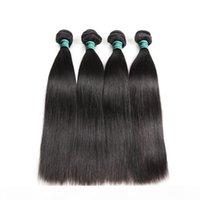 Double Drawn Hair Straight Human Hair Bundles Deep Wave Brazilian Hair Bundles with Frontal 14 inch
