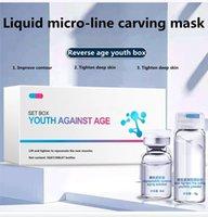 Acide hyaluronique hydratant escargot d'escargot d'escargot hydratant masque de collagène masque de collagène rétrécir les pores anti-âge masques noirs masques de soin de la peau en poudre