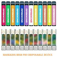 Maskking High Pro Disposable Device Russia Version 1000 puffs 600mAh 3.5ml Pre-filled Cartridges E Cigarette PK Air Bar Lux GT BANG XXL PUFF