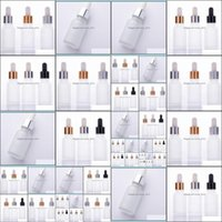 Bottles Packing Office School Business & Industrial2021 15Ml Clear Frosted Dropper Cosmetic 20Ml Essential Oil Glass Bottle With Gold Sier B