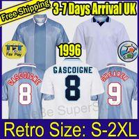 1996 잉글랜드 레트로 축구 유니폼 가스 코니 셰어 러 맥마만 남부 클래식 빈티지 Sheringham 96 98 홈 멀리 Beckham 축구 셔츠