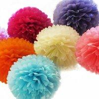 5 STÜCKE * 8 Zoll Tissue Paper Pompoms Blumenbälle Home Decor Festliche Partei liefert Hochzeit Gefallen Dekorative Blumen Kränze