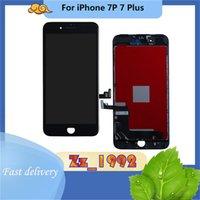 Cep Telefonu Panelleri Süper Kalite için iphone 7 Artı LCD Ekran Değiştirme Dokunmatik Sayısallaştırıcı Siyah Beyaz Ile
