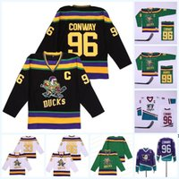 Benutzerdefinierte S-6XL Mighty Ducks Film 96 Charlie Conway 99 Adam Banken 33 GREG GOLDGEL FULTON REED 66 Gordon Bombay 100% genähte Hockey-Trikots