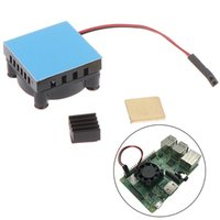 Universal Fan Cooler Module Square Cooling With Heatsink Kit Copper Aluminum Pad For Raspberry Pi 4  3 2 Fans & Coolings