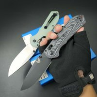 New Arrival BM560 Survival Folding Knife CPM-M4 Stone Wash   Titanium Coated Drop Point Blade CNC G10 Handle EDC Pocket Knives With Retail Box