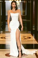 Mermaid Evening Dresses Strapless Sleeveless Plus Size Formal Floor-Length Prom Party Gowns Custom