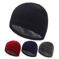 Beanies Skullies Men's Winter Hat Knitted Hats For Women Beanie Men Gorras Warm Thick Fur Bonnet Homme Women's Skull Caps
