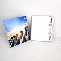 NewMDF Sublimación en blanco Marco de fotos de letras de madera Tablero de fotos Sublimating White Family Home Album Frame Transferencia de calor ZZE8186
