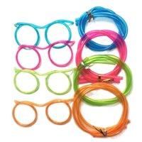500 قطع الجدة مذهلة سخيفة نظارات متعددة الألوان سترو مضحك إطارات الشرب النظارات القش diy الأطفال أطفال drinkware