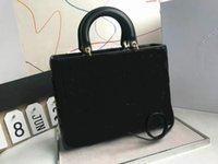 デザイナーソフトランプレザー7チェックダイヤモンド格子ハンドバッグゴールドハードウェアレターハンガーハンドルのハンドルのハンドバッグもう一つのストラップショルダーバッグ有名な財布
