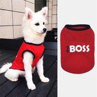 Zomer Leuke Huisdieren Gedrukt Tshirt Puppy Pet Cat Vest Katoen T-shirt Pug Apparel Kostuums Hondenkleding voor Kleine Honden 685 R2