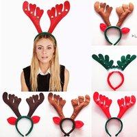 크리스마스 장식 크리스마스 뿔 머리 밴드 빨간색 비 짠 머리띠 휴일 파티 생일 파티 용품 OWB10481