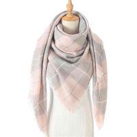 Bufanda de lujo de lujo mujeres tejido invierno cachemira pashmina femenino cuadro cálido triángulo bufandas manta chales bandana envolturas bufanda