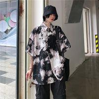 Deeptown Gothic Black Shirt Women Harajuku Punk Blouses Korean 2021 Fashion Oversize Long Sleeve Dark Style Vintage Casual Kpop