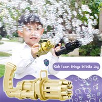 2PCS Kids Automatic Gatling Bubble Gun Toys Festive & Party Supplies Summer Soap Water Machine 2-in-1 Electric For Children Gift