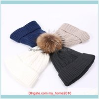 Beanies Headwears Athletic Outdoor As Sports & Outdoorswomens Knitted Hats Woolen Twist Twisted Caps Autumn Winter Warmth And Veet Thickenin