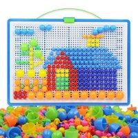 어린이 손톱 퍼즐 버섯 딩 장난감 295 조각 과학 및 교육 장난감을 손으로 삽입하는 보드