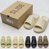 2021 Women Men Slippers Bone Pure Foam Runner Slide Enfora Blue Orange Desert Sand Resin Soot Earth Brown Summer Shoes Glow Green Luxurys designer sandals