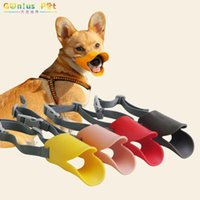 Dog Collars & Leashes Pet Duckbill Mouth Cover Breathable Comfortable Adjustable Mouthpiece High-Quality Soft Rubber For Dogs Supplies