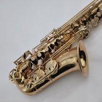 Юпитер JAS-769-II ALTO EB TUNE SAXOPHONE E плоский музыкальный инструмент Латунный золотой лак SAX с корпусом и аксессуарами