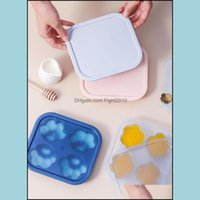 Bakeware Kitchen, Dining & Gardensile Baking Mods Cat-Pad Ice Molds With Lid Chocolate Cake Handmake Mold Cube Tray Home Square Maker Bar To