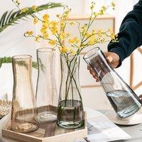 الشمال المزهريات الحديثة الزهور الزجاج الكريستال الحد الأدنى زهرية زهرية ديكور المنزل غرفة المعيشة ديكور BC50HP