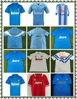 87 88 레트로 나폴리 축구 유니폼 클래식 셔츠 Maradona 1987 1988 Napoles 유니폼 Giordan Magica 1926 축구 셔츠