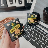 Cute Delicious Snacks Black Popcorn Wireless Bluetooth Earphone Cases For AirPods Pro 2 1 Cartoon 3D Charging Box Soft Silicone Headset Cover