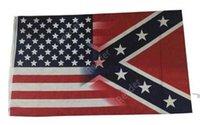 جديد 90 * 150 سنتيمتر 5x3ft العلم الأمريكي مع المتمردين النكهين الحرب الأهلية العلم 3x5 القدم العلم dhl dar137