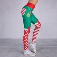 Women's Leggings Christmas Trousers For Women Lady Casual Elasticity Skinny Leggins Mujer High Waist Workout Printing Stretchy Pants