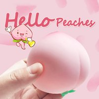 Fidget Toys Peach Vent Ball Press Slow Rising Decompression Toy Relieve Anti Stress Pink Balls Hand Squeeze Squishy Pack for Child Kids Antistress Gifts