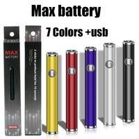 7 Farben Max Batterie Vorwärmen VV 380mAh Variable Spannungsbatterien mit Micro USB-Ladegerät Fit CE3 G2 AMIGO Liberty-Kartuschen