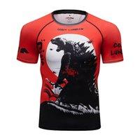 Cody Lundin мужская бегущая футболки быстрый сухой сжатие спортивный фитнес тренажерный зал рубашки мужчины джерси спортивная одежда 210707