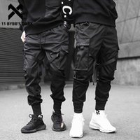 11 Bybb Homens Escuros Calças Calças Multi-Pocket Elastic Elastic Cintura Harem Calças Homens Hip Hop Streetwear Sweetpants Pencil Calças Techwear X0721