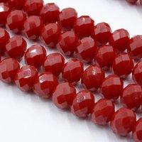Другое продажа фарфоровой темно-красный 4 мм 6 мм 8 мм ронденцель австрия хрустальные бусы шаржевые стеклянные свободные расставатели шарики для дела