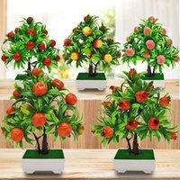 simulation de grenade pomme pot de pêche pomme plantation fruit pseudo fleur plante verte bonsai salon décoration