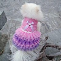 Dog Apparel Pet Dress Lace Sarees Small Purple Puppies Animal Cat Tutu Wedding Party Skirt Clothes For Chihuahua Puppy Princess