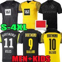 S-4XL 110th Home Edition Limited Edition Haaland Reus Borussia الفانيلة 4th Dortmund Soccer Jersey Special 2022 قمصان كرة القدم 21 22 Sancho Brandt Plszczek مجموعات الرجال الاطفال