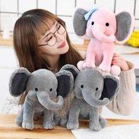 Fylld plysch djur lugnande baby elefant docka söta barn sover med plyschs leksaker födelsedagspresent tjej 2021