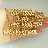 Pendant Necklaces 1991 1992 1993 1994 1995 1996 1997 1998 1999 2000 Year Necklace Crown Charm Old English Number Date BFF Gift