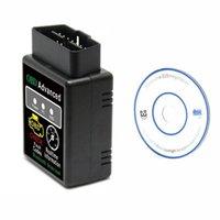 I lettori di codice Strumenti di scansione 1pcs Bluetooth Diagnostic Tool Reader ELM327 V1.5 HH OBD 2 OBDII Scanner di interfaccia automatica auto