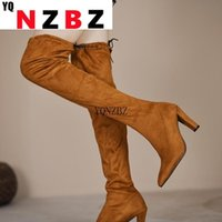 Boots Women Modern Over The Knee High Heel 8cm Fashion Casual Shoes Woman Spring Autumn Sexy Plus Size Ladies