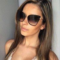 مصمم الفاخرة نظارات 2021 العلامة التجارية مصمم كاتي المرأة خمر نظارات معدنية ل مرآة الرجعية مينيت دي soulil فام uv400