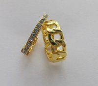 Fashion Gold Letter Band Anelli BAGUE PER LADY DONNE DONNA PARTY AMANDE AMANDE GIOCAGLIE GIOCAGGAMENTO