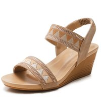 Dress Shoes 2021 Summer Women Wedge Sandals Vintage Bohemia Gladiator Ladies Sandles For Woman Plue Size Women's Platform