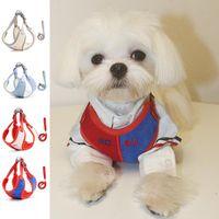 Dog Collars & Leashes Harness And Leash Kitten Pug Small Medium Nylon Mesh Cat Vest Reflector Walking Lead
